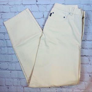 Lauren Ralph Lauren Light Yellow Jeans Size 16